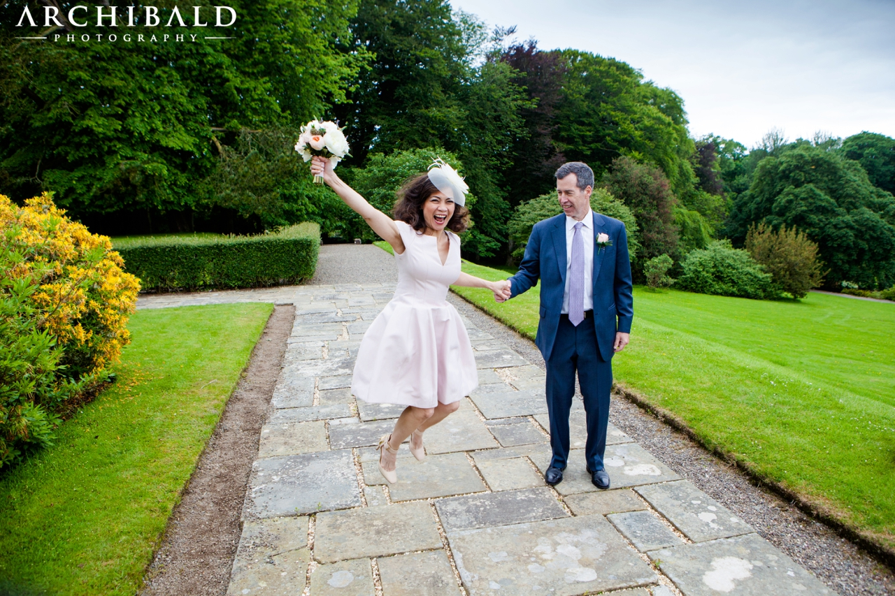 Exchange of Vows photography at Glenapp Castle