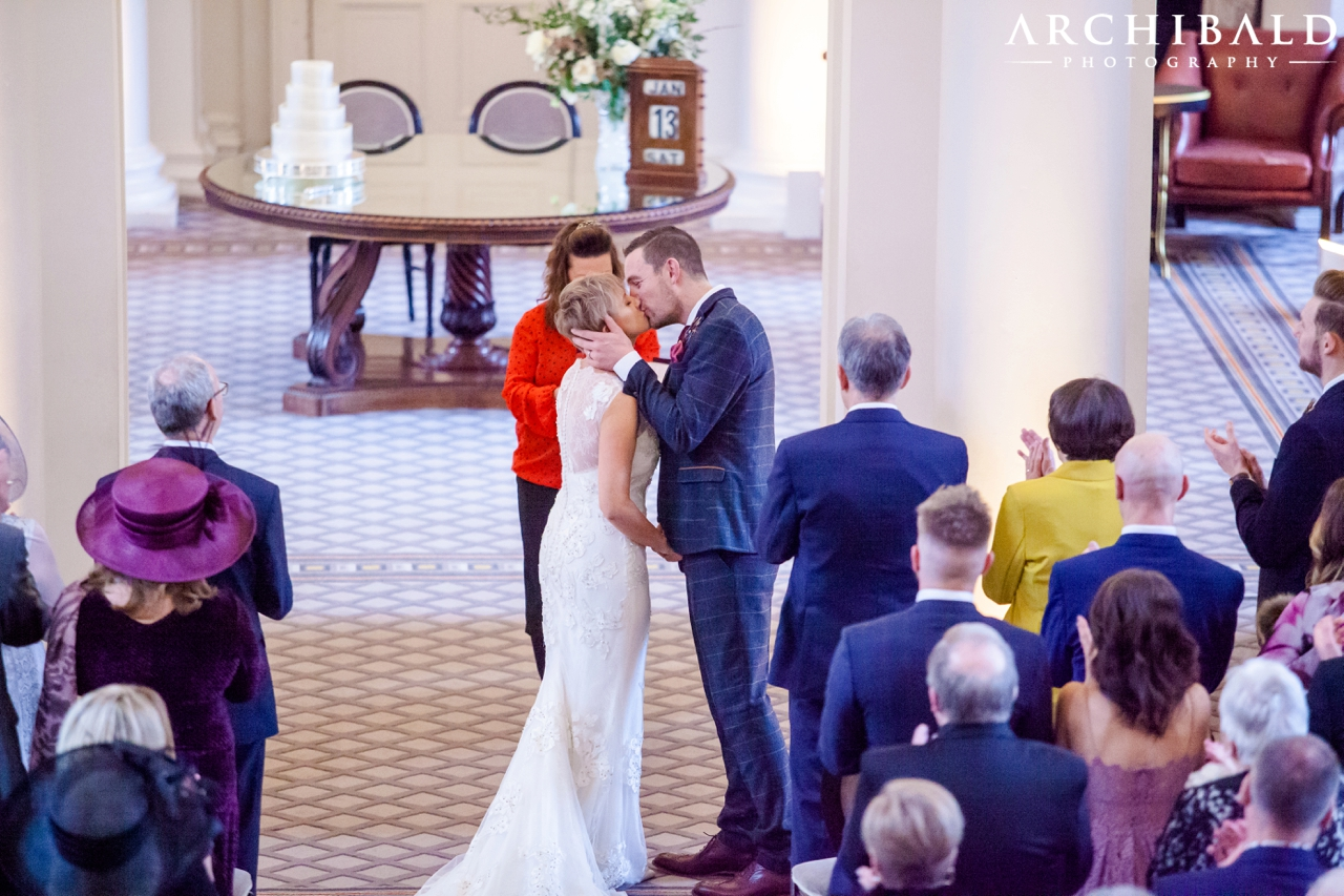Winter Signet Library Wedding Photography by Mark Archibald Photography Award Winning Edinburgh Photographer