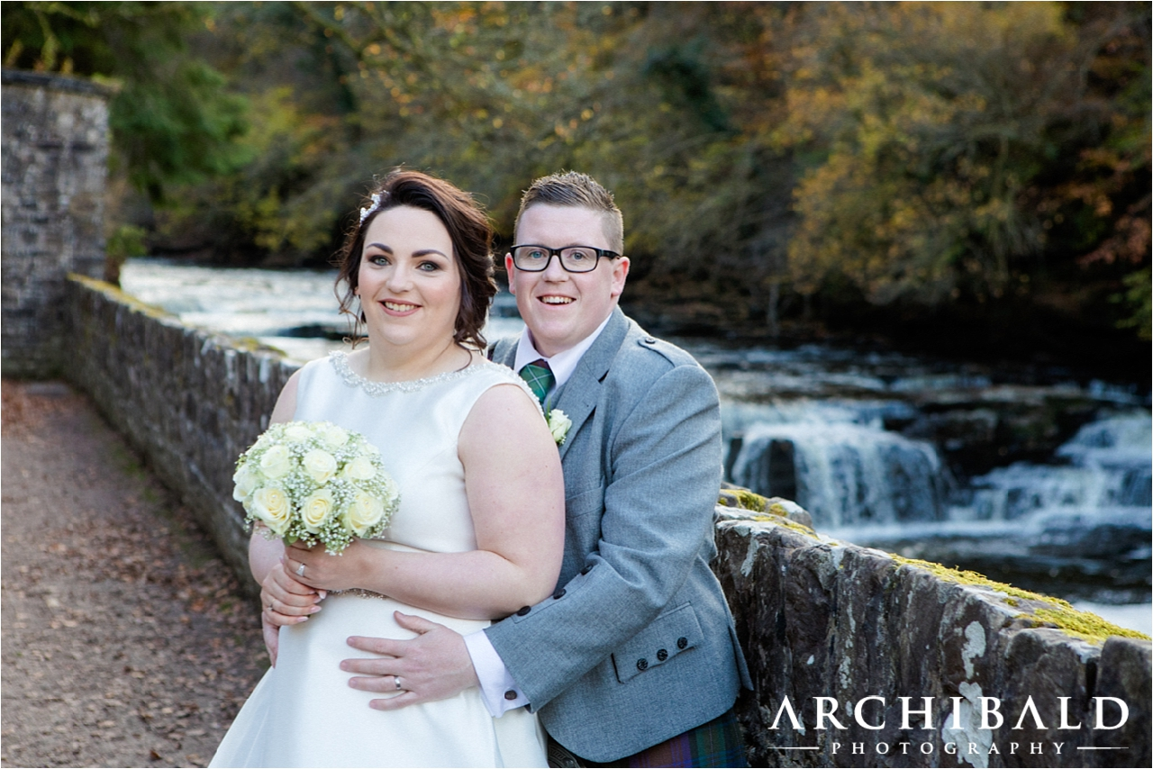 New Lanark wedding photography by local Lanark wedding photographer Archibald Photography