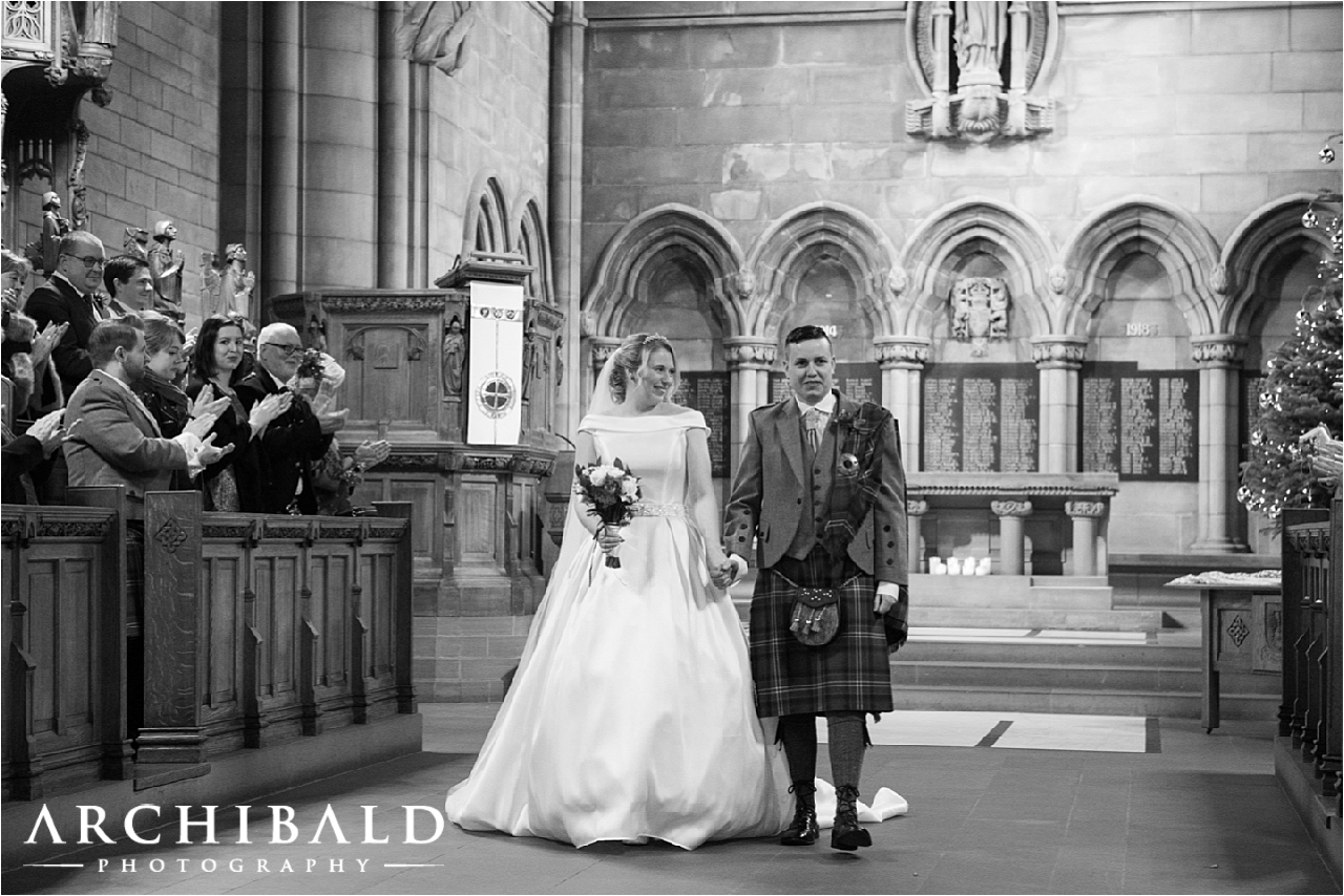 Glasgow University Chapel & The Piping Centre wedding photography by Archibald Photography