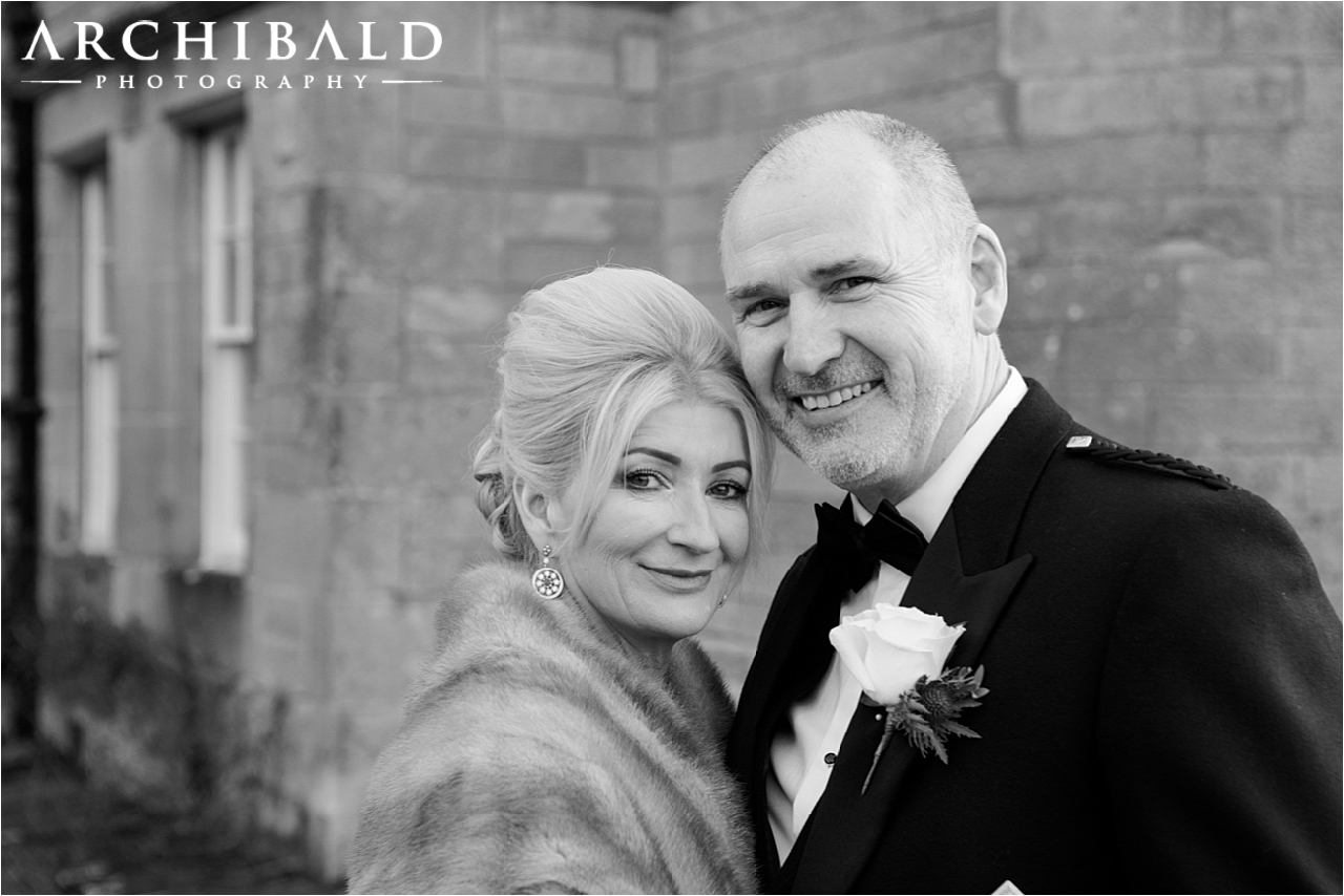 Winter weddings at Glenapp Castle by wedding photographer Scotland
