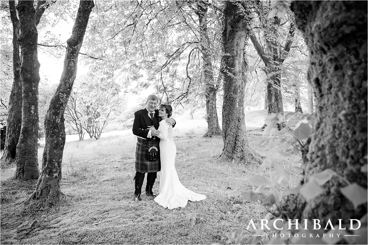 Black & White Wedding Photography by Scottish Wedding Photographer Archibald Photography
