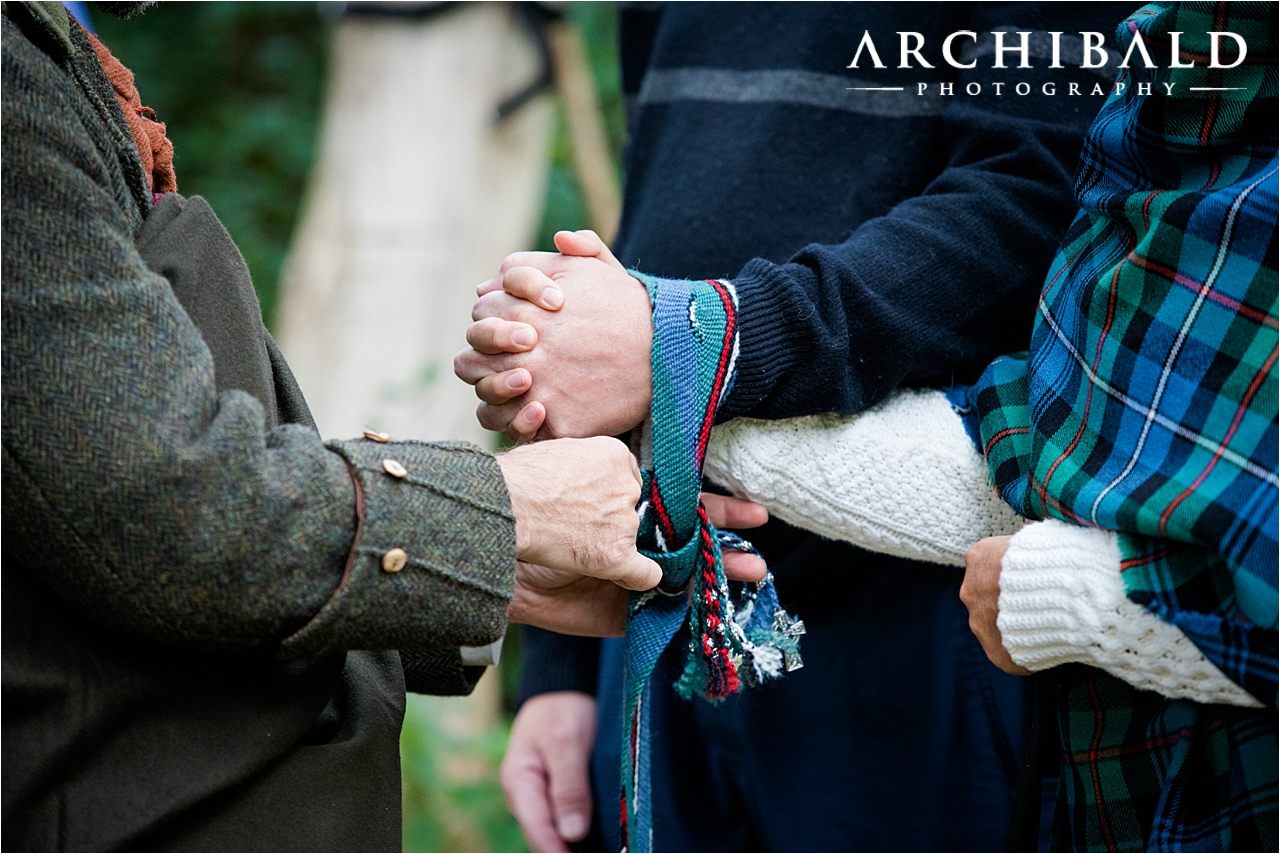 A beautiful elopement in Birnam Wood In Scotland